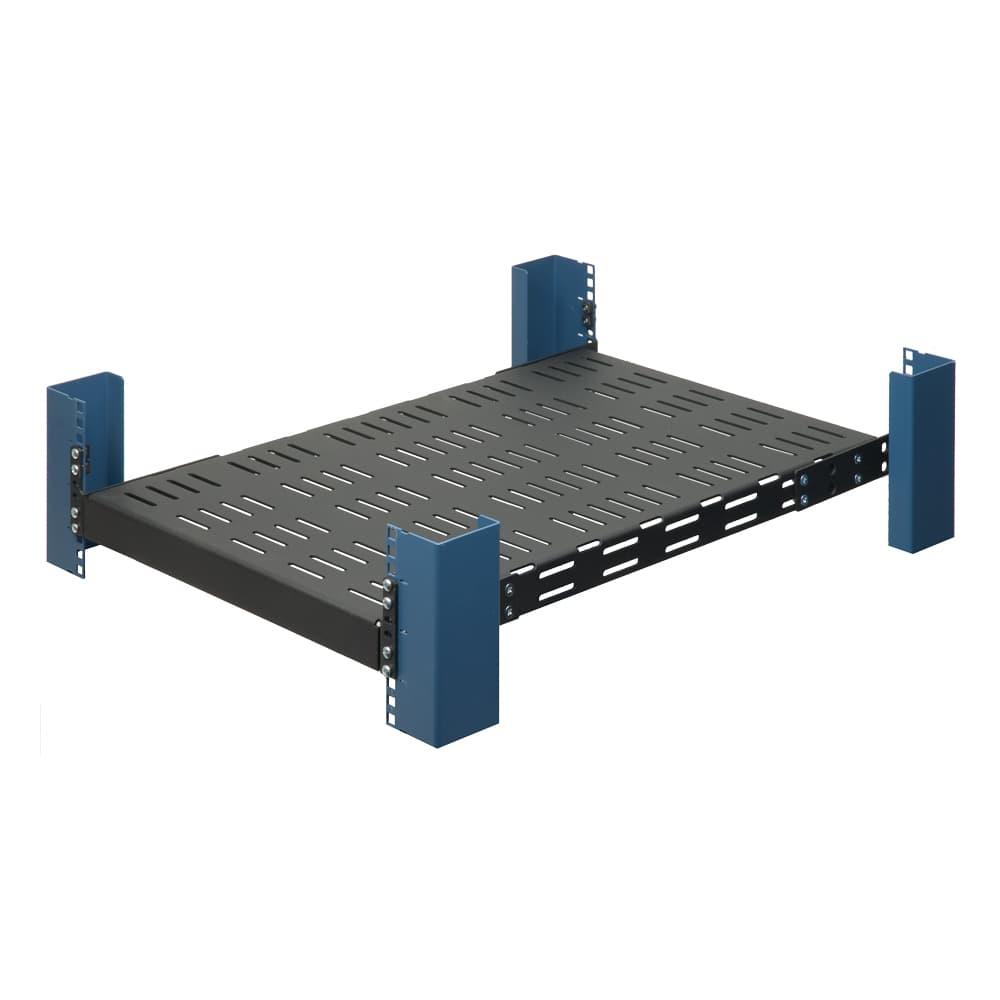 "1U 28"" Fixed Extra Heavy Duty Vented Rack Shelf"