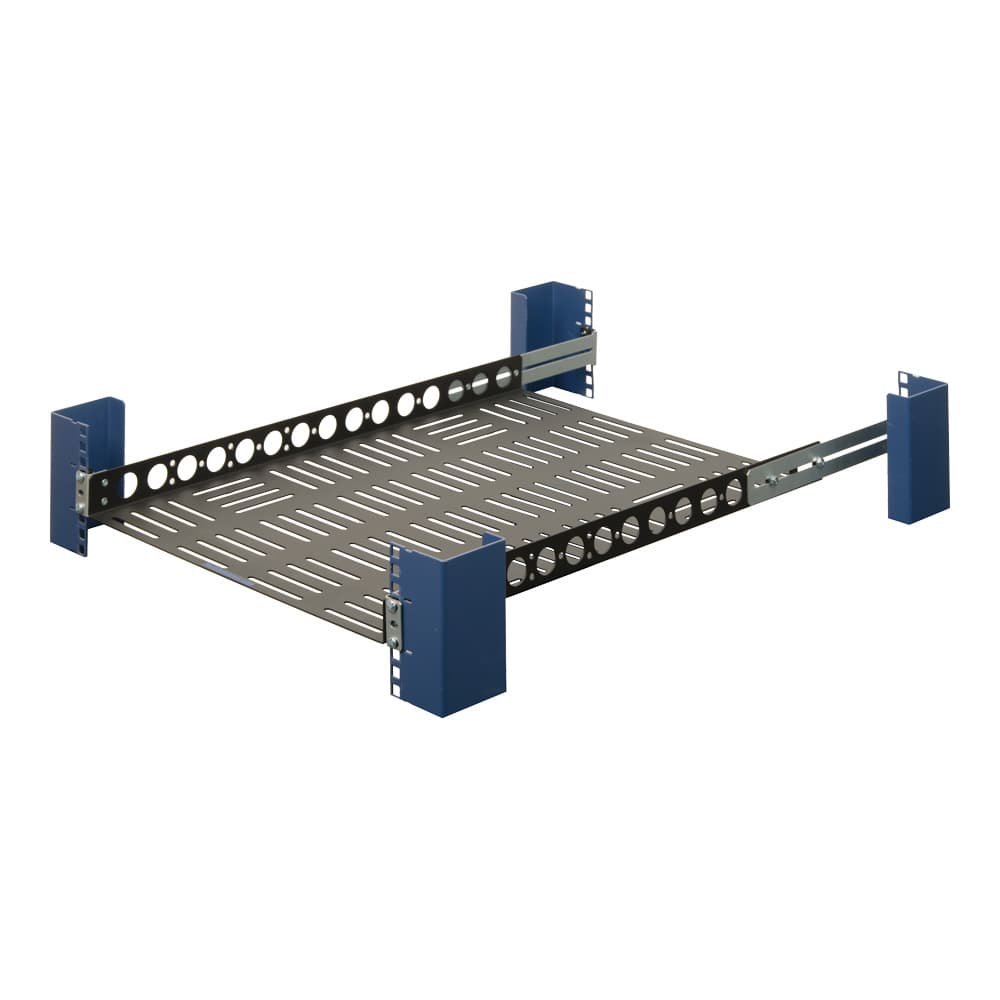 "1U 24"" Fixed Light Duty Vented Rack Shelf"