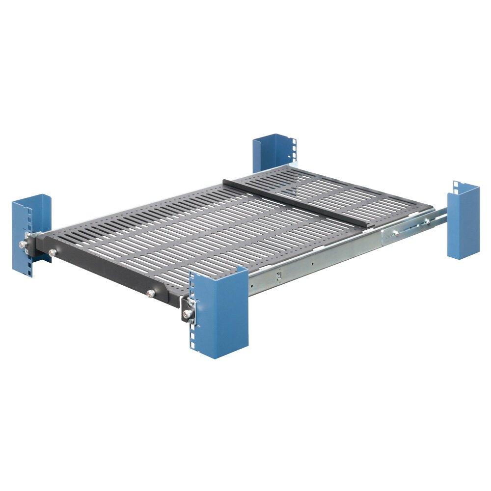1U Medium Duty Sliding Server Rack Shelf