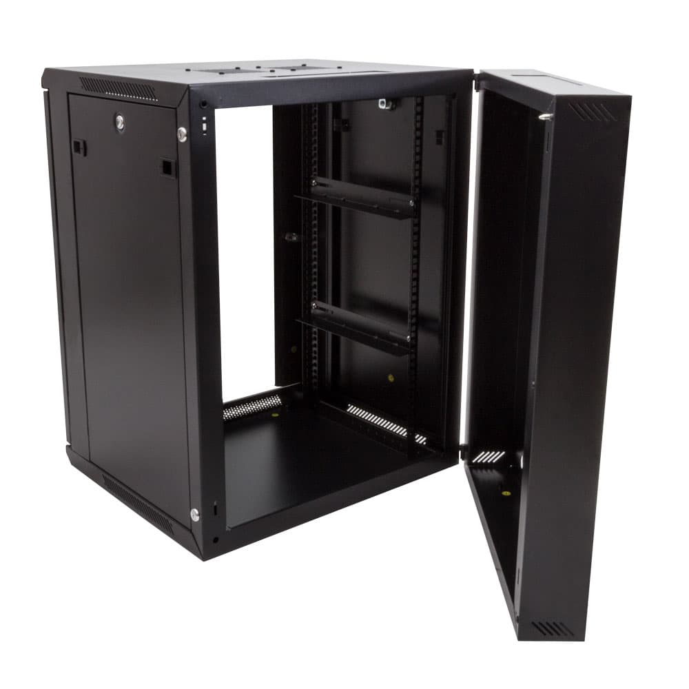 15U Double Section Wall Mount AV Rack
