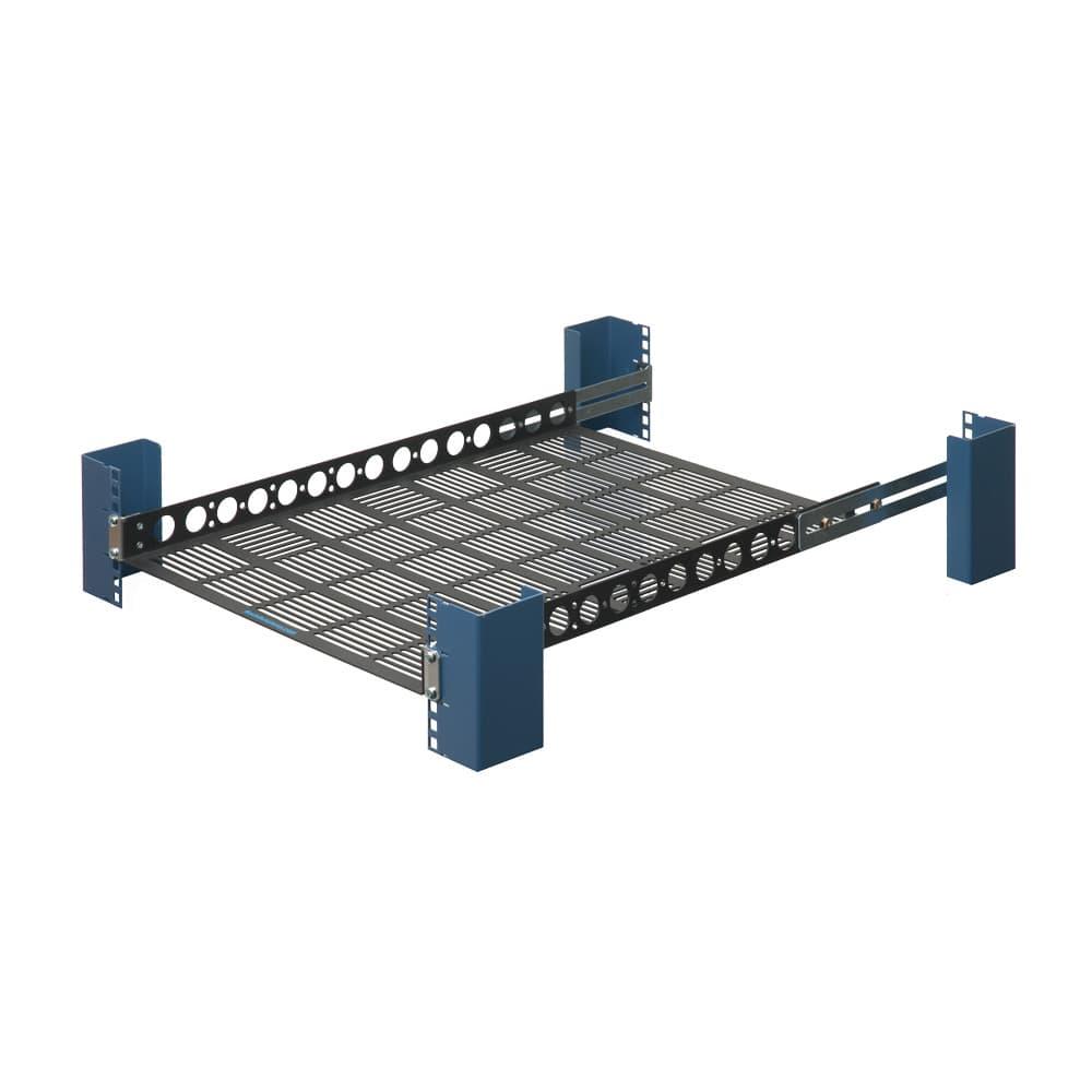 "1U 20"" Fixed Medium Duty Vented Rack Shelf"