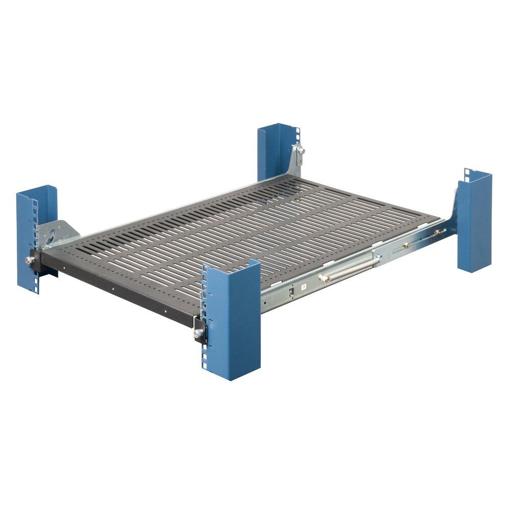 1U Tool-Less Medium Duty Sliding Rack Shelf