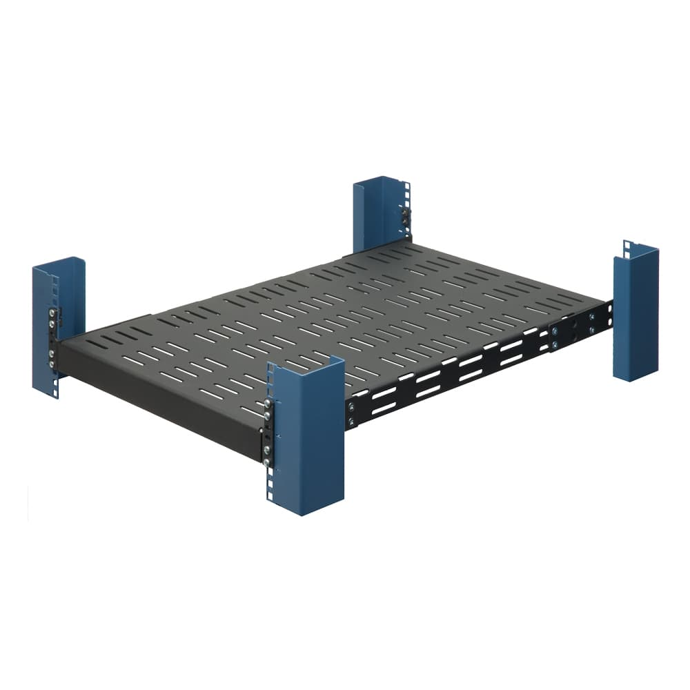"1U 28"" Fixed Heavy Duty Vented 23"" Wide Rack Shelf"